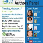 BAYA Authors Panel Scheduled for Tuesday, October 27, 2015 in San Leandro